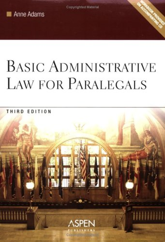 9780735557482: Basic Administrative Law for Paralegals