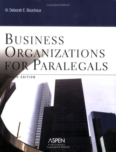 9780735557505: Business Organizations for Paralegals
