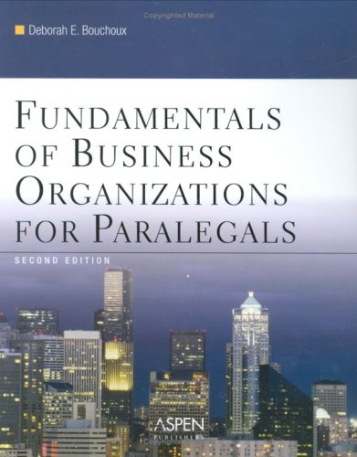9780735558434: Fundamentals of Business Organization for Paralegals