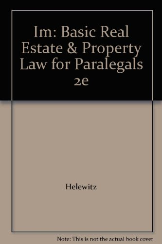 9780735558502: Im: Basic Real Estate & Property Law for Paralegals 2e
