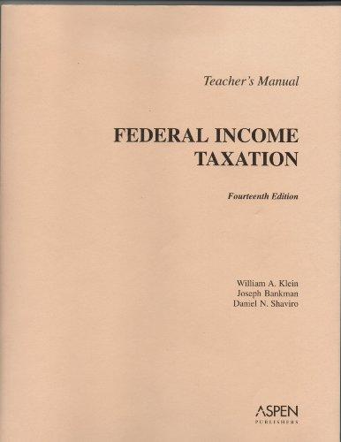 9780735558885: TM: Federal Income Taxation 14e
