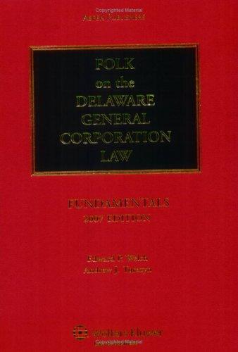 9780735560888: Folk on the Delaware General Corporation Law: Fundamentals, 2007 Edition
