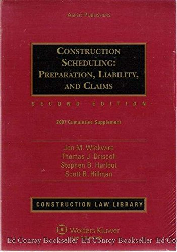 9780735561298: Construction Scheduling: Preparation, Liability, and Claims