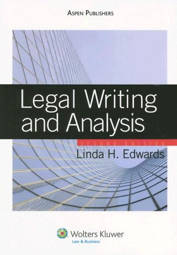 9780735562295: Legal Writing and Analysis