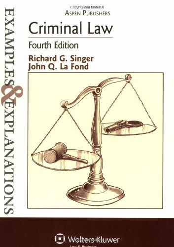 9780735562431: Criminal Law (The Examples & Explanations Series), 4e