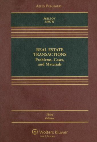 9780735562578: Real Estate Transactions: Problems, Cases, and Materials
