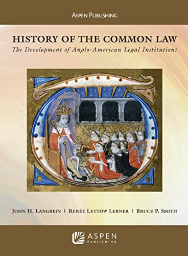 9780735562905: History of the Common Law: The Development of Anglo-American Legal Institutions