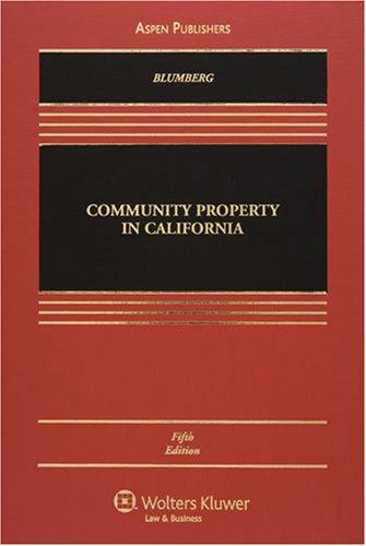 9780735563629: Community Property in California (Casebook)