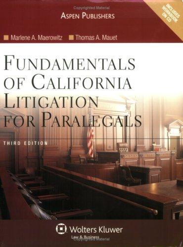 9780735563889: Fundamentals of California Litigation for Paralegals, 3rd Edition