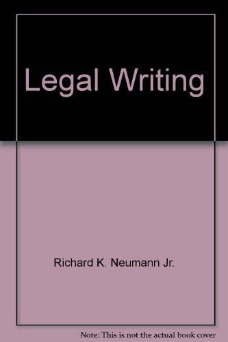 9780735564251: Legal Writing