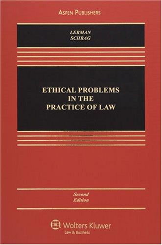 9780735565296: Ethical Problems in the Practice of Law