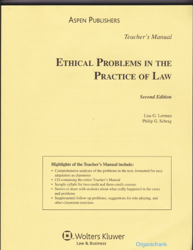 9780735565302: Ethical Problems in the Practice of Law