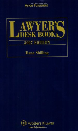 9780735565418: Lawyer's Desk Book, 2007 Edition (Lawyer's Desk Book)