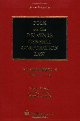 9780735566811: Folk on the Delaware General Corporation Law: Fundamentals, 2008 Edition