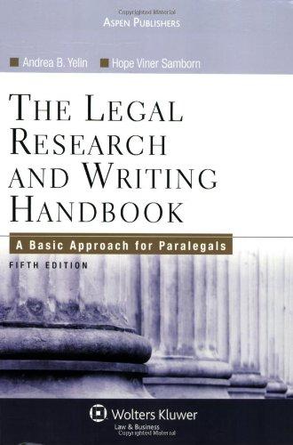 9780735567382: Legal Research & Writing Handbook