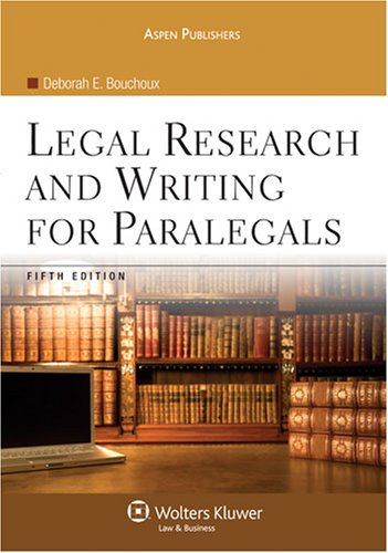 9780735568013: Legal Research and Writing for Paralegals