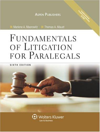 9780735568075: Fundamentals of Litigation for Paralegals