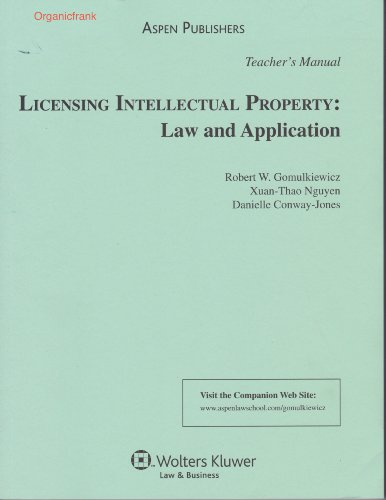 Licensing Intellectual Property: Law and Application