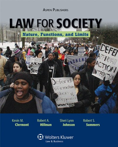 9780735568532: Law for Society: Nature, Functions, and Limits