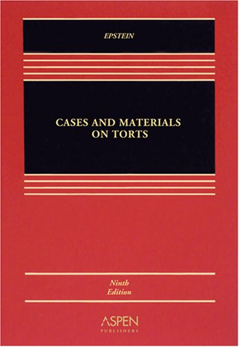 9780735569232: Cases and Materials on Torts (Casebook Series)