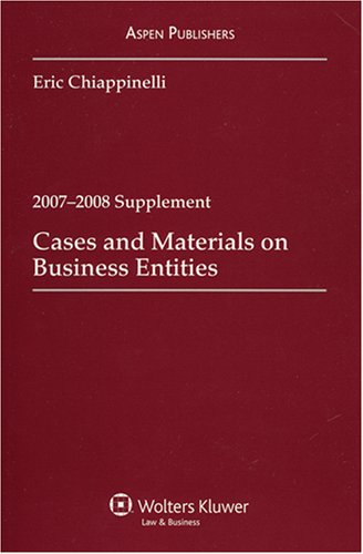 9780735570153: Business Entities 2007-2008 Supplement