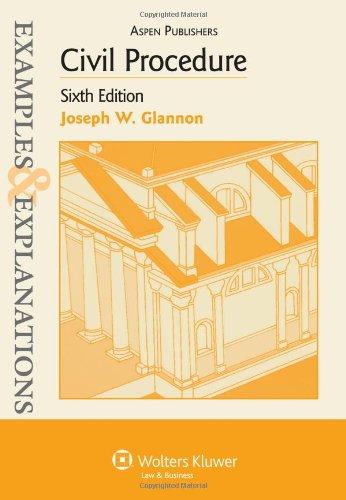 9780735570337: Civil Procedure (Examples & Explanations)