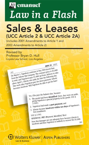 9780735570627: Sales (Ucc Article 2) Liaf 2008 (Law in a Flash)