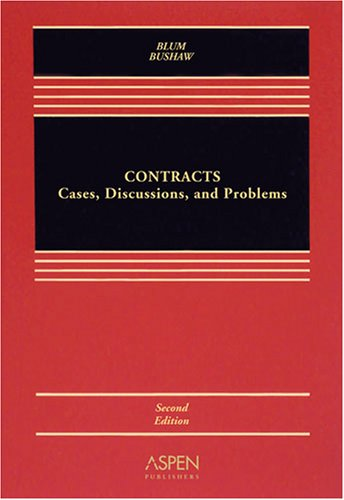 9780735570696: Contracts: Cases Discussion & Problems