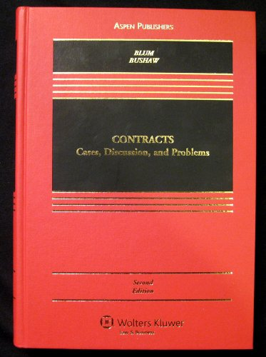 9780735570702: Contracts: Cases, Discussion, and Problems