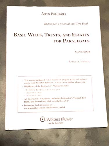 9780735571204: Basic Wills, Trusts, and Estates for Paralegals