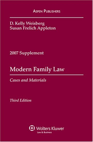 9780735571969: Modern Family Law 2007: Cases and Materials