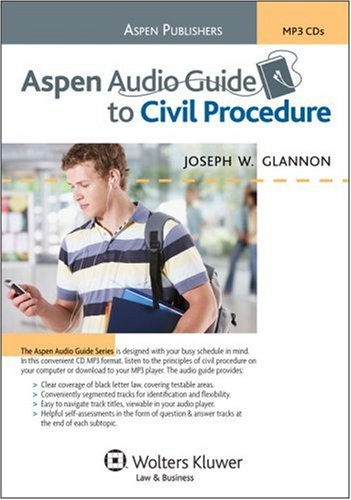 9780735572386: Aspen Audio Guide to Civil Procedure (The Aspen Audio Guide Series)