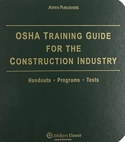 9780735572782: OSHA Training Guide Construction Industry 2009 3e