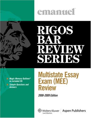 9780735573352: Multistate Essay Exam (MEE) Review (Emanuel's Rigos Bar Review Series)