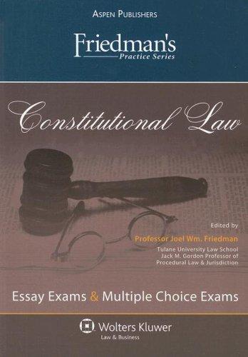 9780735573475: Friedman's Practice Series: Constitutional Law