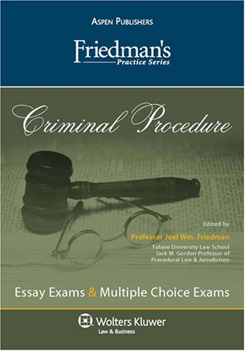 9780735573505: Friedman's Practice Series: Criminal Procedure