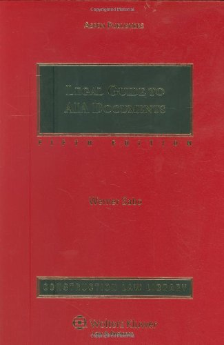 9780735574540: Legal Guide To AIA Documents