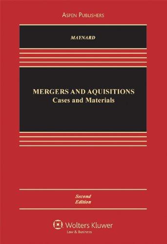 9780735574847: Mergers & Acquisitions: Cases, Materials & Problems 2e
