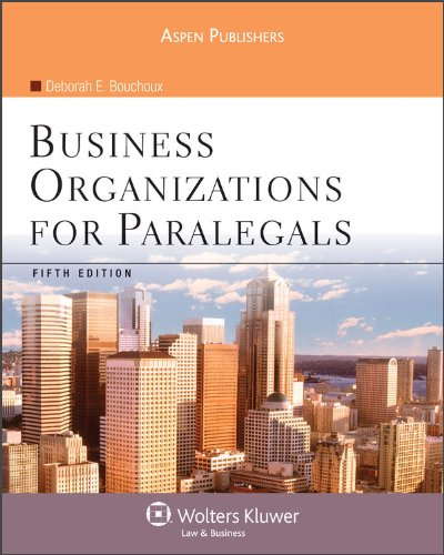 9780735576285: Business Organizations for Paralegals 5e