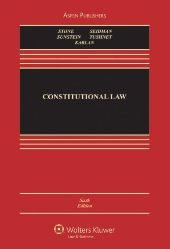 9780735577190: Constitutional Law 6e