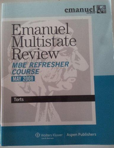9780735577466: Emmanuel Multistate Bar Review: Torts