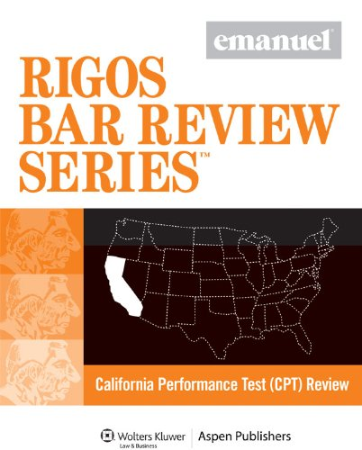 9780735578326: Ca Performance Test Review (Rigos Bar Review)