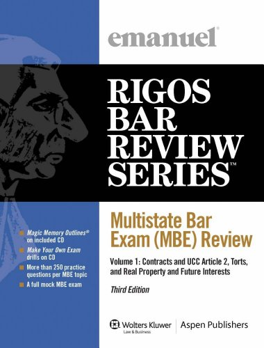 9780735578388: Multistate Bar Exam (MBE) Review Volume 1 2009 Edition
