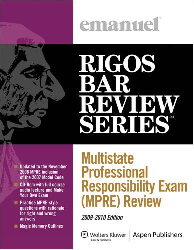 9780735578401: Multistate Professional Responsibility Exam (MPRE) Review (Emanuel's Rigos Bar Review Series)