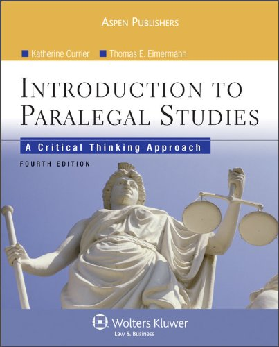 9780735578647: Introduction Paralegal Studies: Critical Thinking Approach 4 Ed