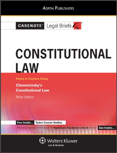 9780735578784: Constitutional Law: Chemerinsky 3rd Edition