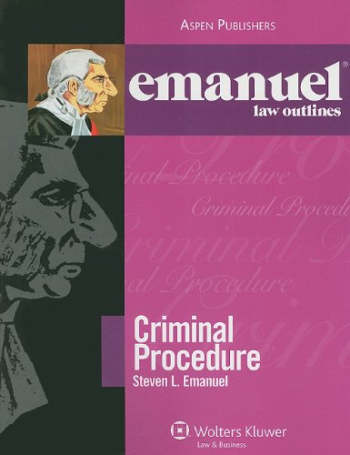 9780735578852: Criminal Procedure 2009 Emanuel Law Outline (Emanuel Law Outlines)