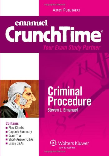 9780735578913: Criminal Procedure Crunchtime 2009