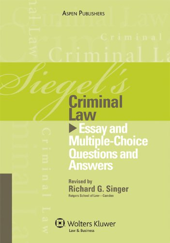 criminal law practice essays For questions one, two and three, you need only refer to the following list of state statutes for all substantive crimes for criminal law defenses, however.