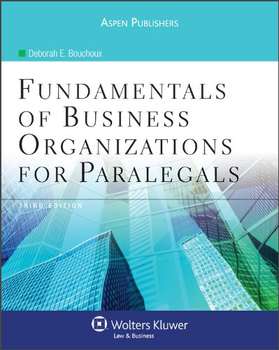 9780735579125: Fundamentals of Business Organizations for Paralegals 3rd Edition